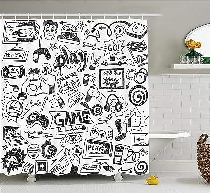 Pack de cortina de ducha para videojuegos caseros, color ...