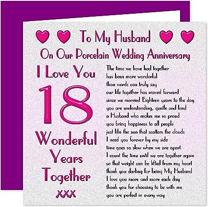 18 Anniversario Di Matrimonio.My Marito Per Anniversario Di Matrimonio On Our Anniversary