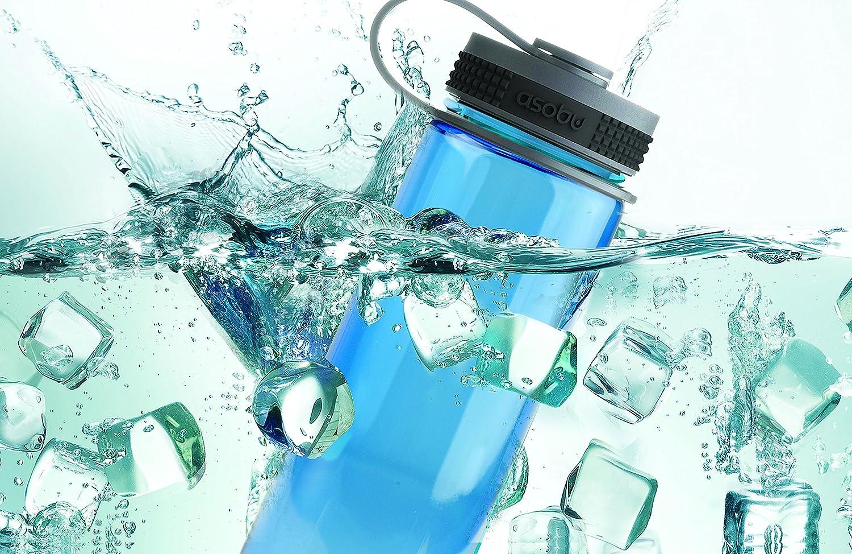 Asobu The Pinnacle Sport 24oz Tritan Wide Mouth Opening Water Bottle Smoke
