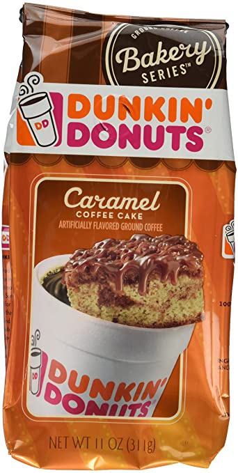 Dunkin Donuts Caramel Coffee Cake Pack Of 2 11ounces Each Amazon
