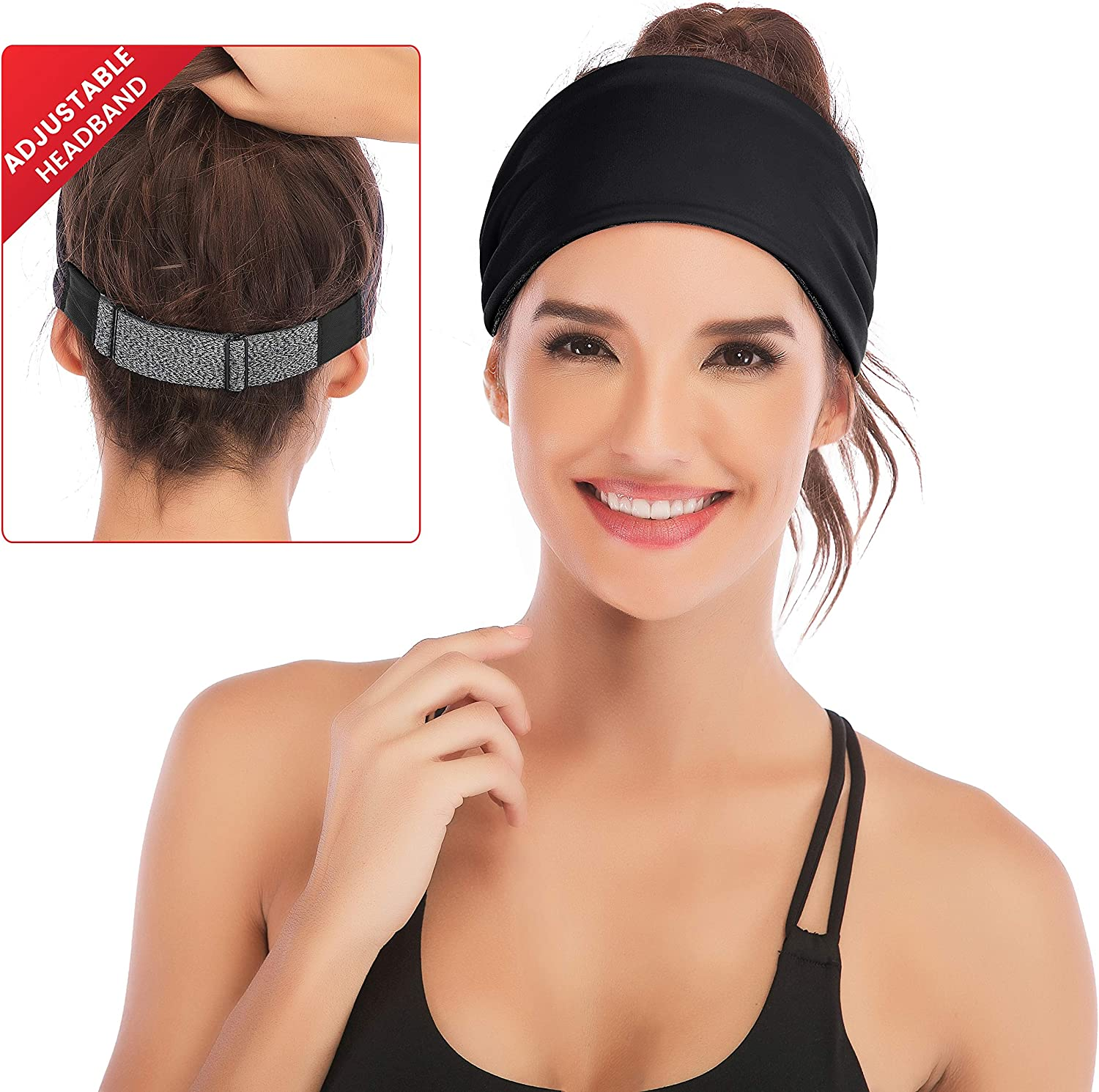 Tsun 7 Pcs Women Headband Solid Color Head Wrap Sports Yoga Hair Band Hair Accessories