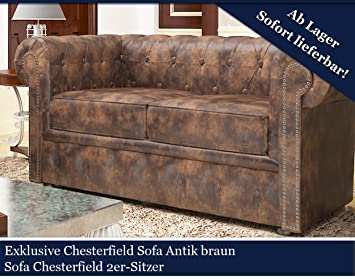 Exklusive Chesterfield Serie Sofa Antik Braun Couch Chester Sofas