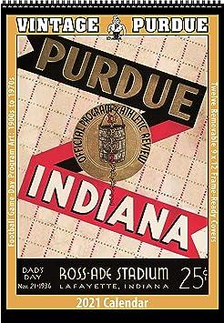 Purdue Calendar 2021 Amazon.: 2021 Vintage Purdue Boilermakers Football Calendar