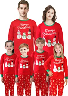 81016914b4 Amazon.com: SleepytimePjs Christmas Family Matching Pajamas Knit Red ...