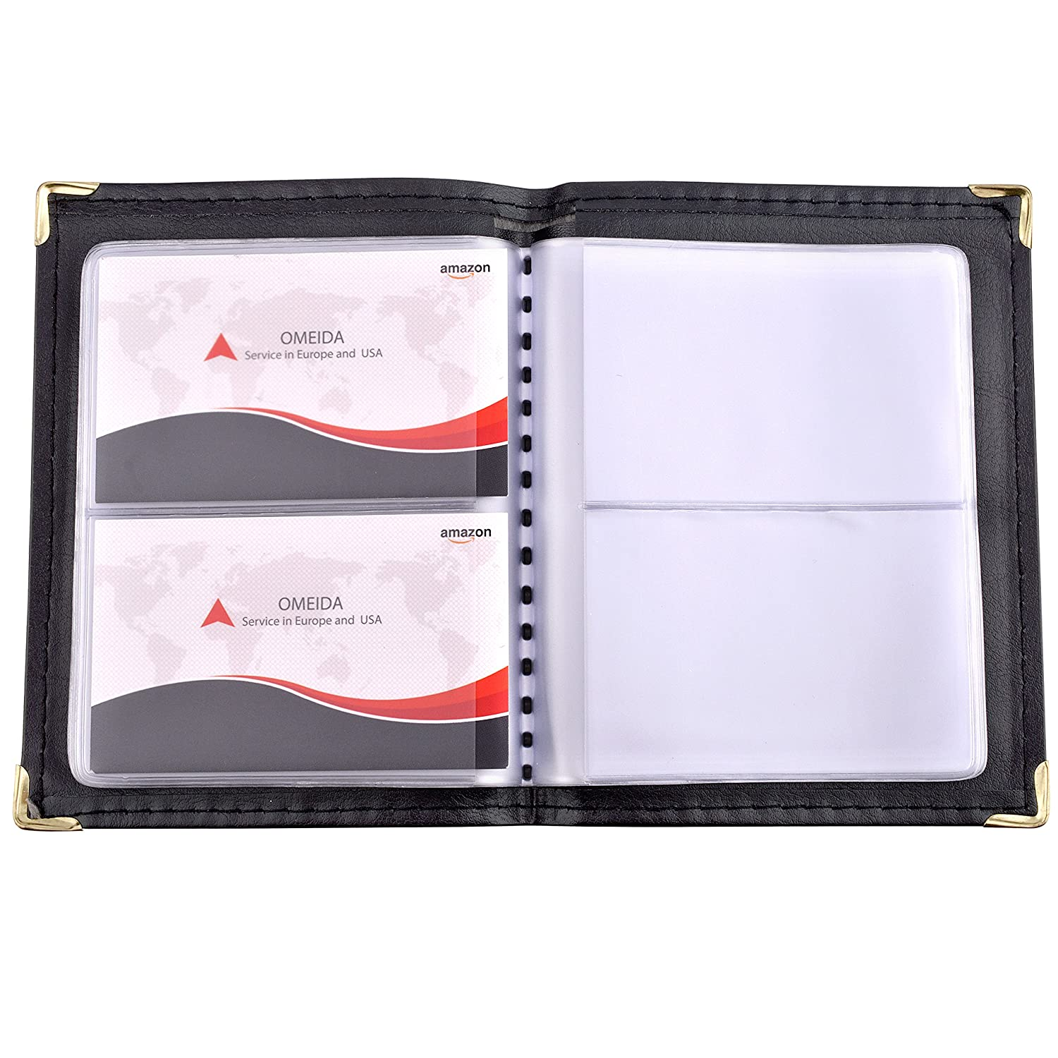 MaxGear Professional Leather Journal Business Card Book Name Small ...