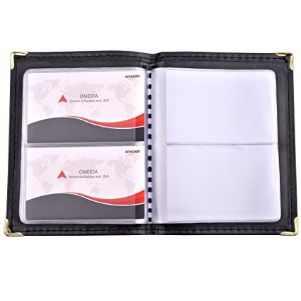 Amazon maxgear professional leather journal business card book maxgear professional leather journal business card book name card book small business card holders portable business colourmoves