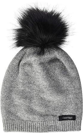 4f493b4167f Calvin Klein Women s s 2 Clrs Pom Beanie (Mid Grey Heather B38-Vol39 013)