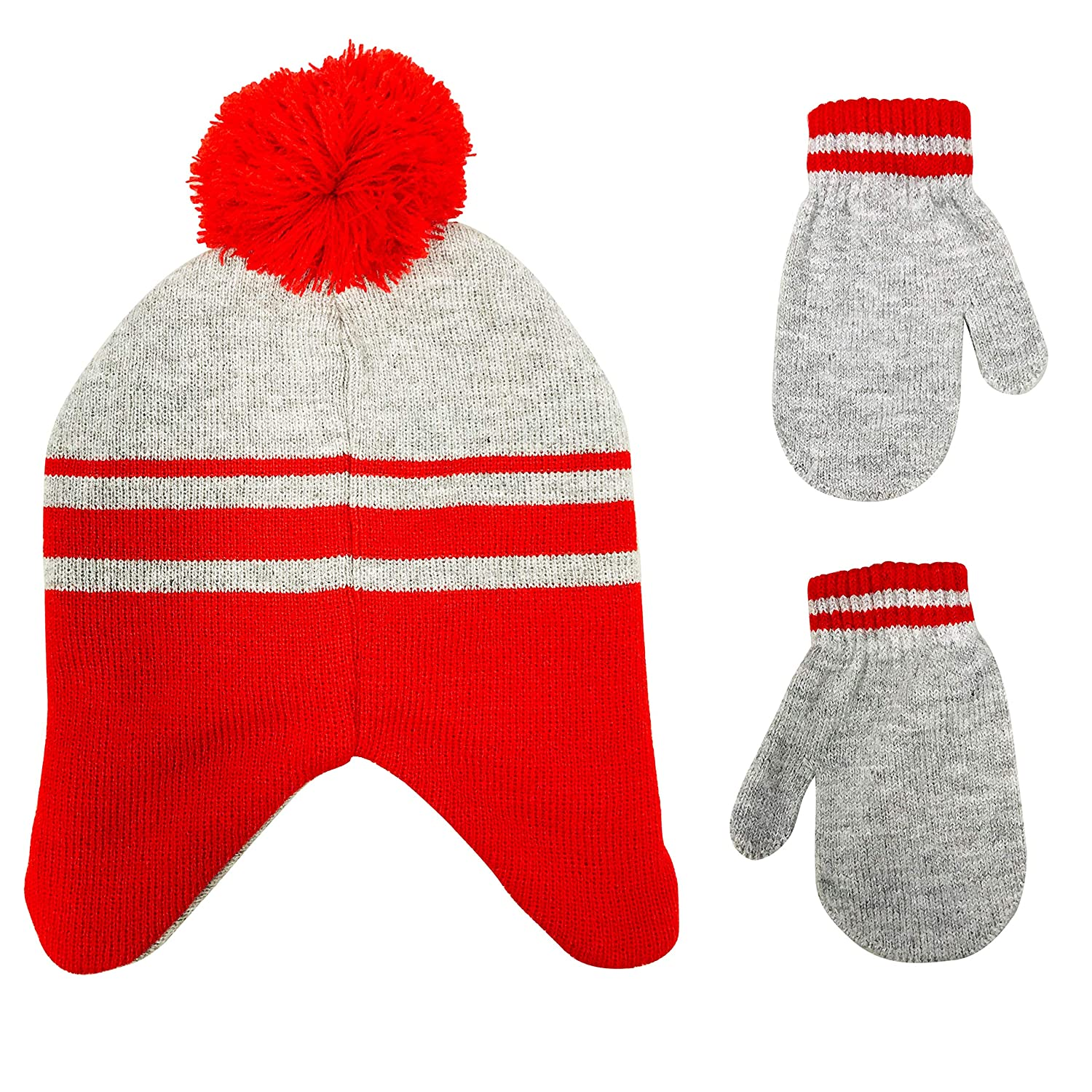 Age 2-4 Nickelodeon Paw Patrol Toddler Boys Beanie Winter Hat and Mittens Cold Weather Set