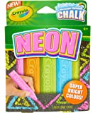 Crayola Washable Sidewalk Chalk, Neon Chalk 5ct