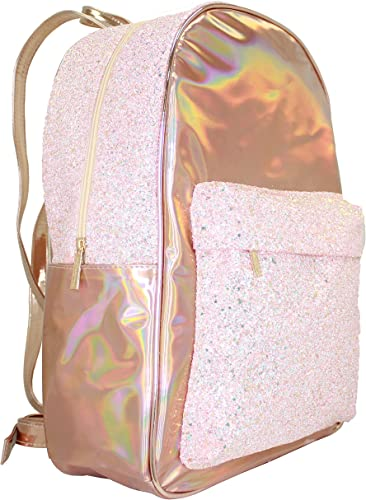 Disco Vibe Glitter Iridescent Large Backpack