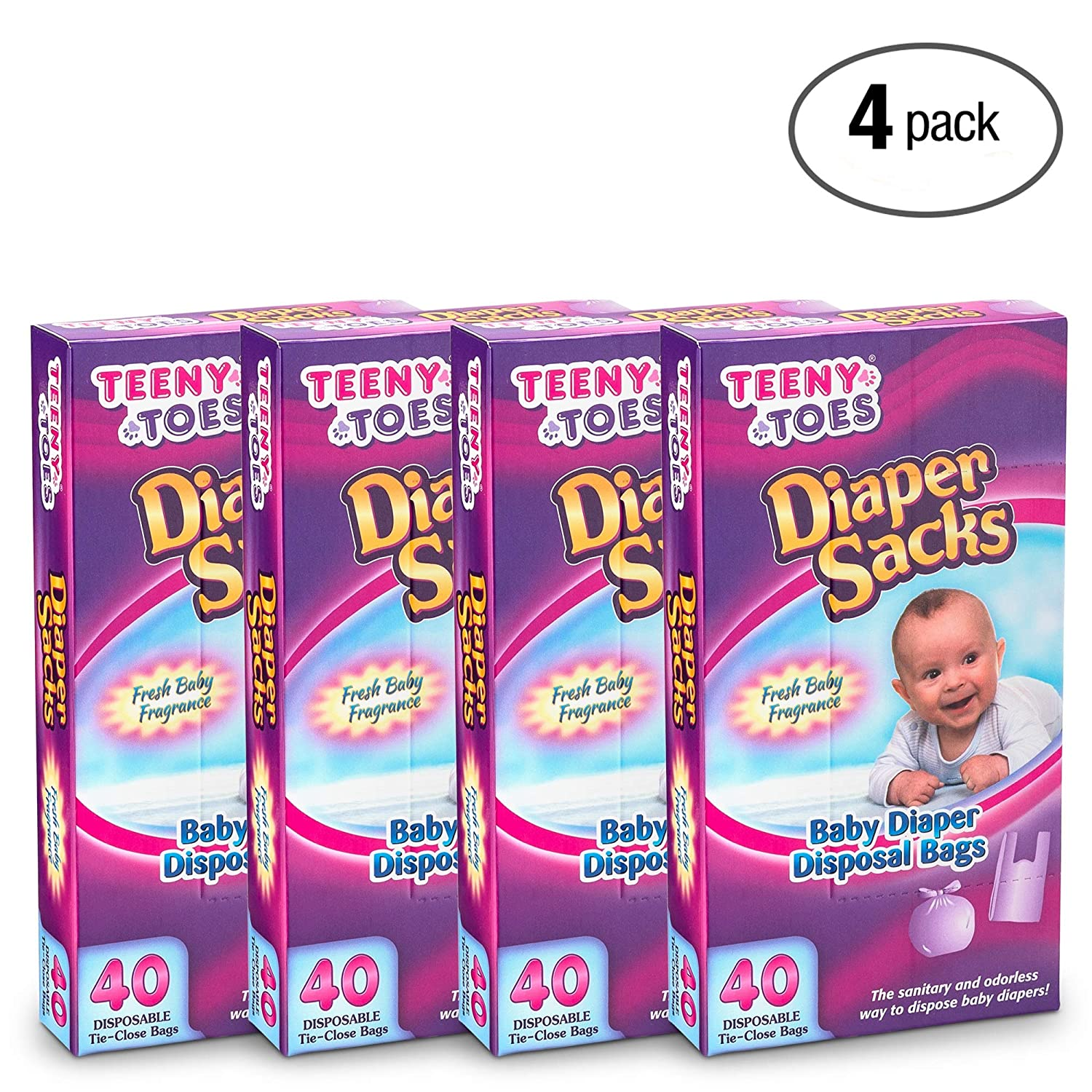 Teeny Toes Baby Disposable Diaper Sacks, 40 Count KCH Corporation 5001
