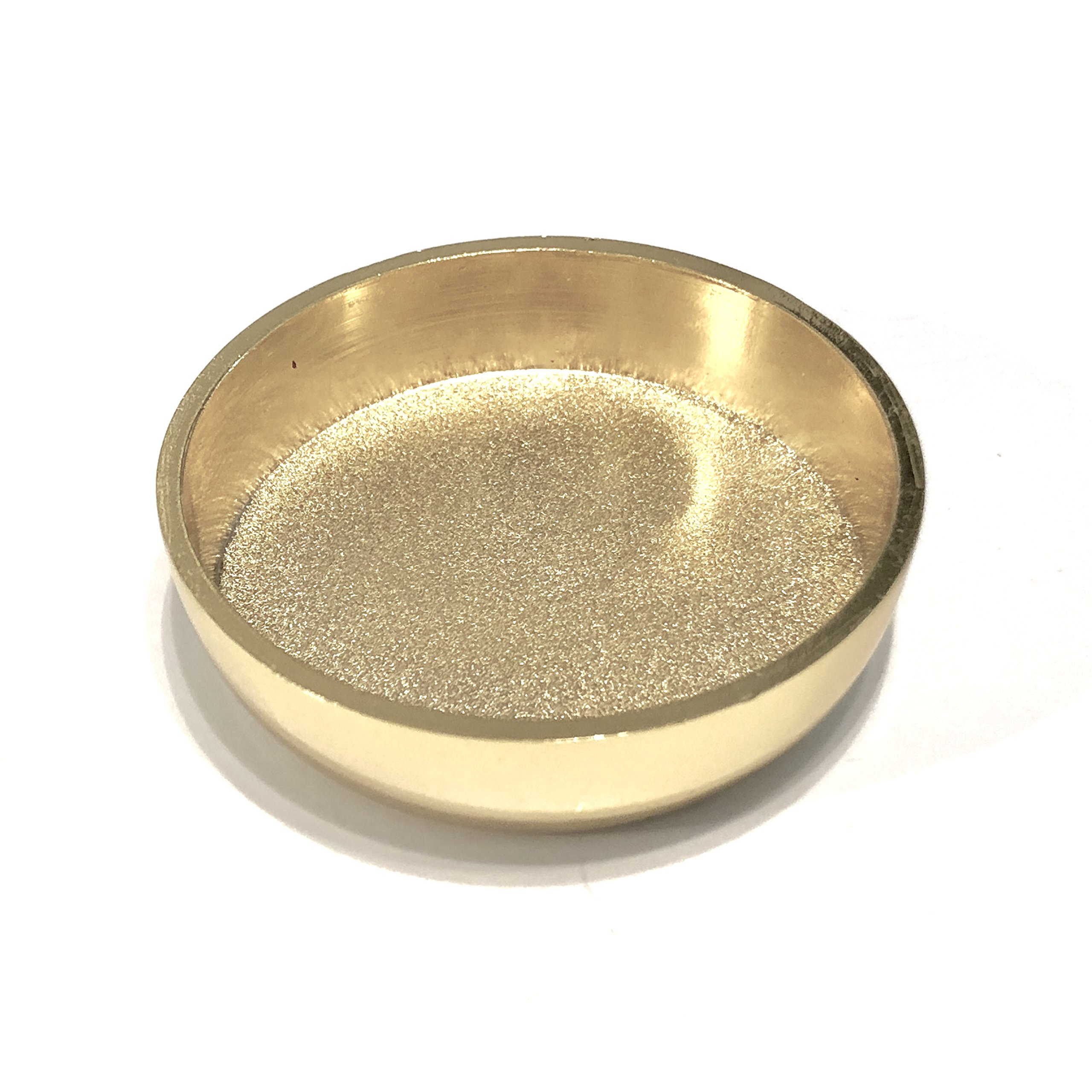 Andustrial Steel - 2'' Brass Heavy Duty Caster Cup with Wool Felt Pad - Best for Grand Piano, Heavy Furniture, Steel Safe, Dinning Tables, Rugs, Carpets and Expensive Floors – (Brass, 1 Piece)