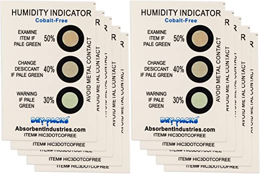Humidity Indicator Cards 3 Dot Pack of 200