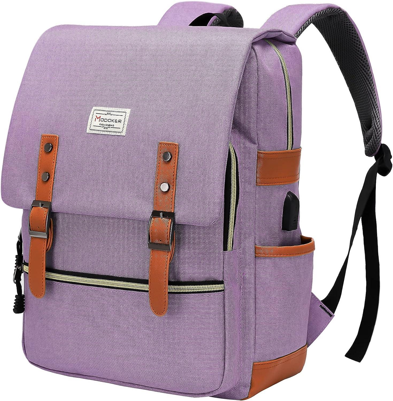 Modoker Vintage Laptop Backpack for Women Men,School College Backpack