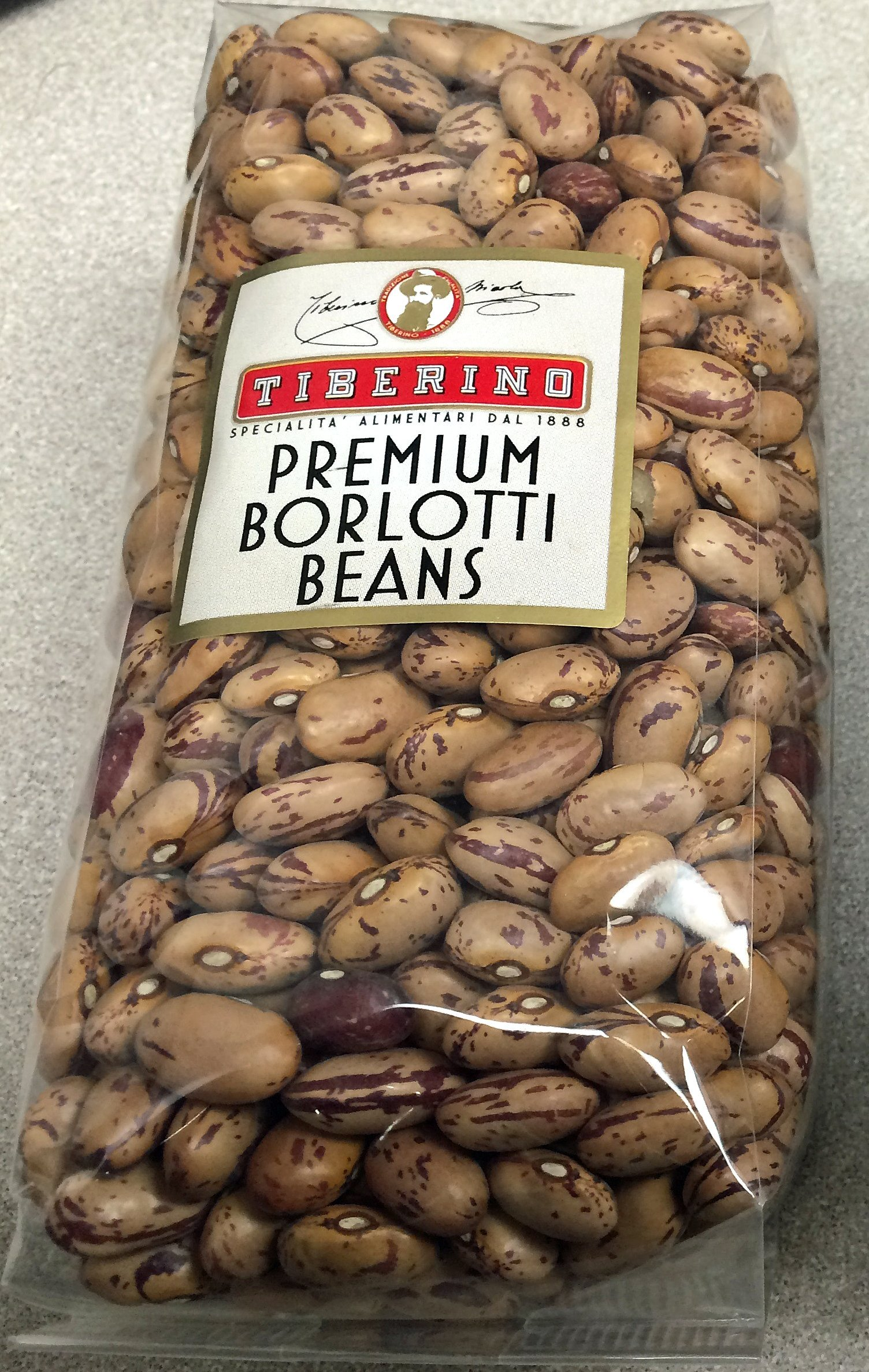 Premium Borlotti (Cranberry) Beans-Imported from Italy by Tiberino