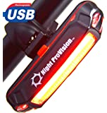Night Provision™ LINE 120R Rear Bicycle Tail Light USB Rechargeable LED 120 Lumens Best 100% Guarantee Lifetime Warranty