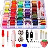 200pcs+ Embroidery Floss Cross Stitch Threads,Bracelet String Kit with Organizer Storage Box-Included 100pcs Friendship…