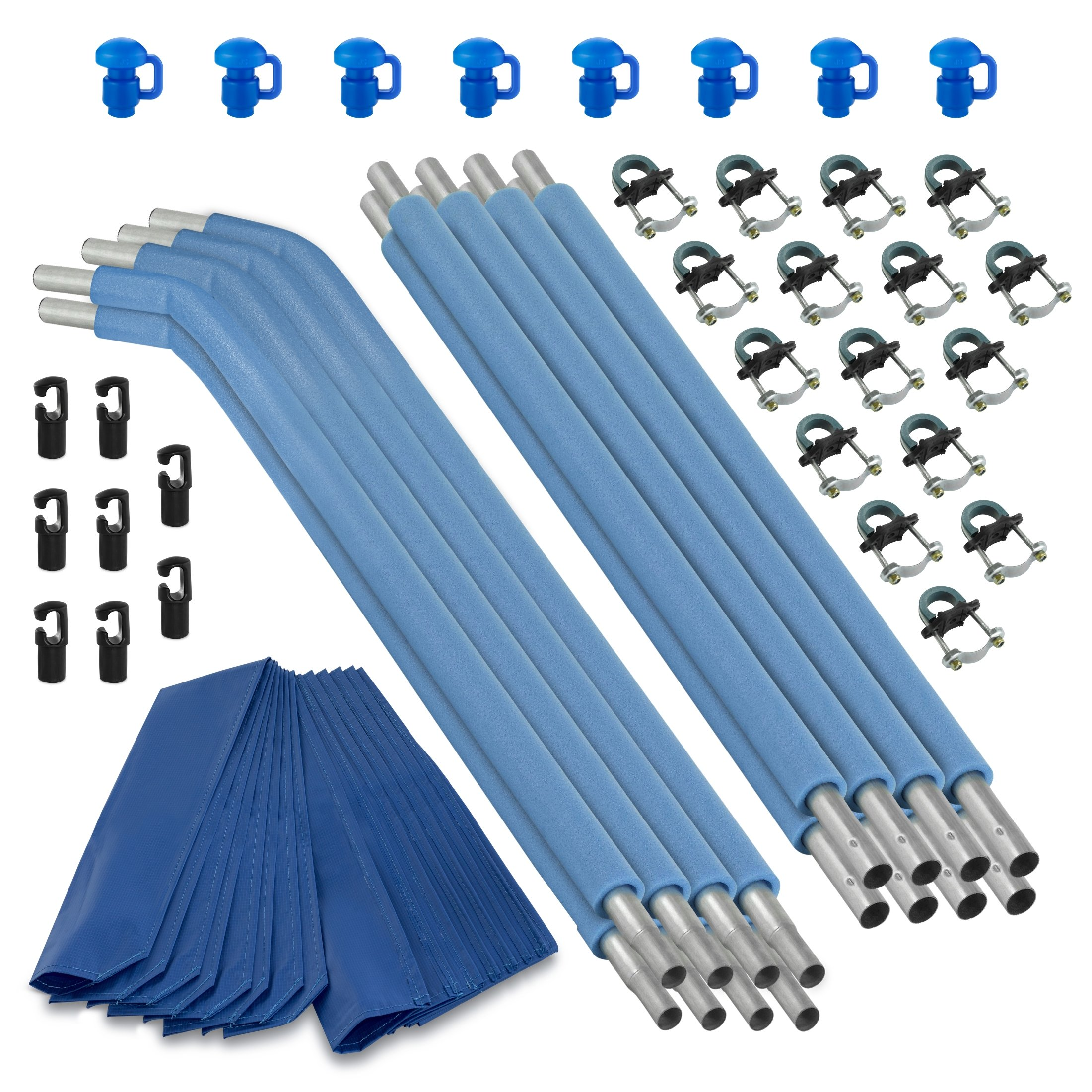 Upper Bounce Trampoline Replacement Enclosure Poles & Hardware (8 Set), Blue by Upper Bounce