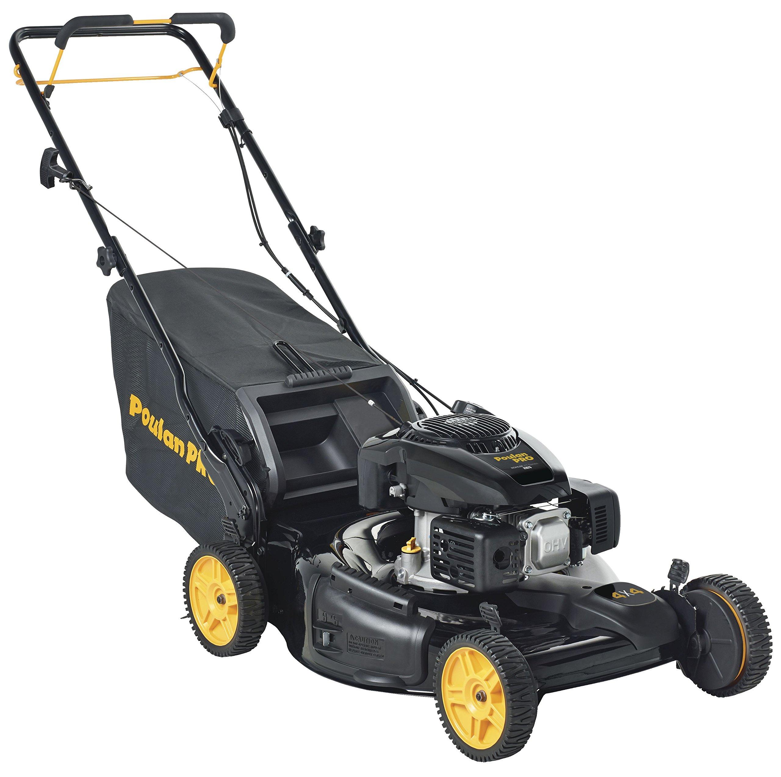 Poulan Pro 961420128 PR675AWD Kohler 675 Side Discharge/Mulch/Bag 3-in-1 All Wheel Drive Mower in 22-Inch Deck