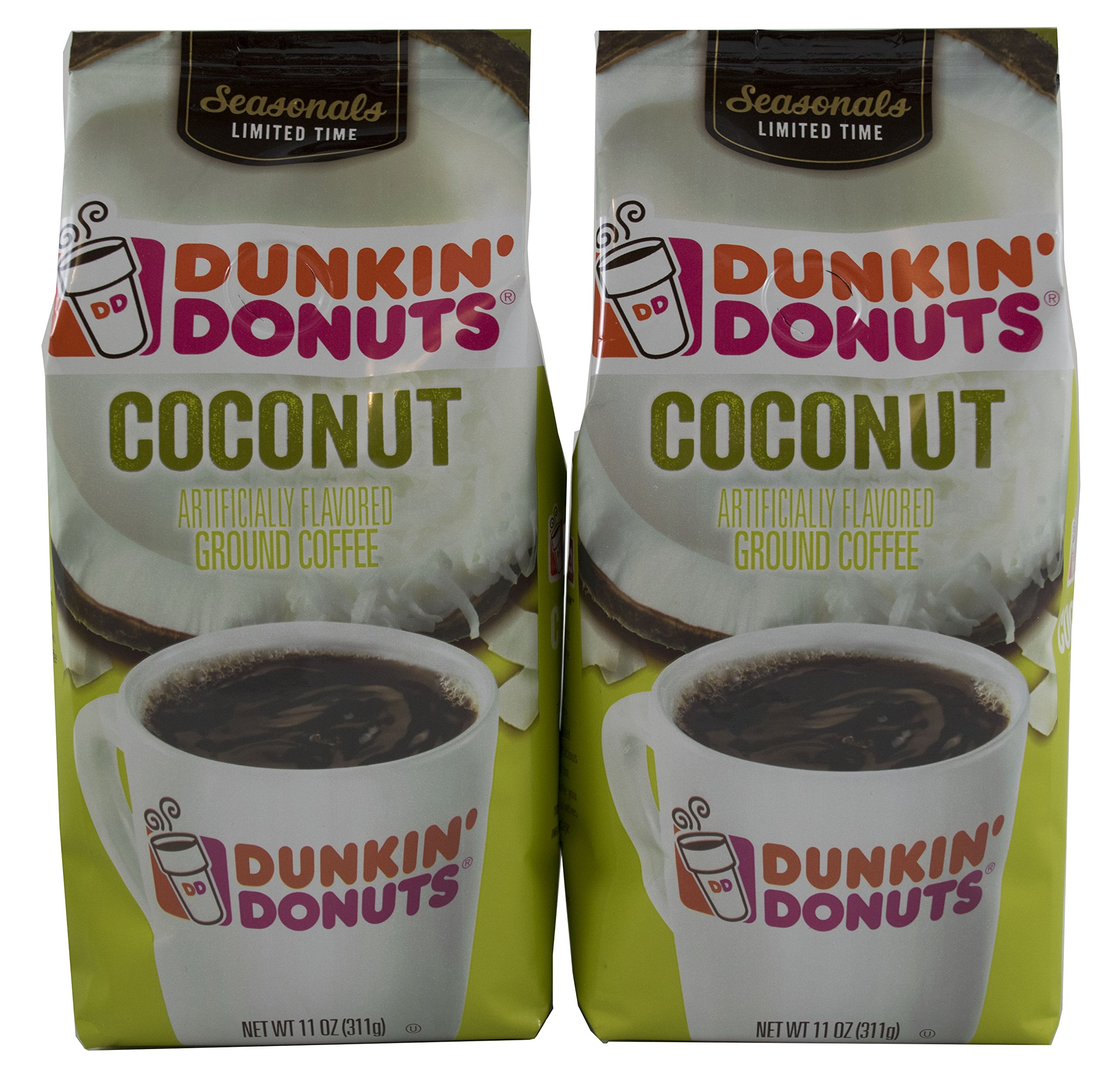 Dunkin Donuts Caramel Coffee Cake Pack Of 2 11ounces