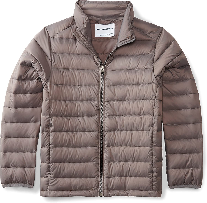 Amazon Essentials Boys Light-Weight Water-Resistant Packable Puffer Jackets Coats