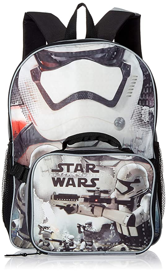 "Mochila – Star Wars EP7 – Stormtrooper 16 ""W/bolsa para el almuerzo"