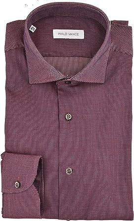 Philo Vance El Hombre de la Camisa de Borgoña Spread Collar ...