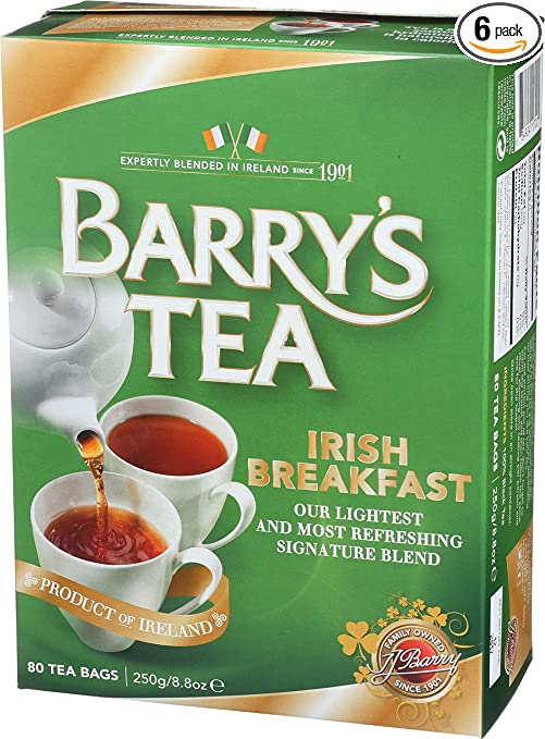 Barry's Tea, Irish Breakfast, 80-Count (Pack of 6)