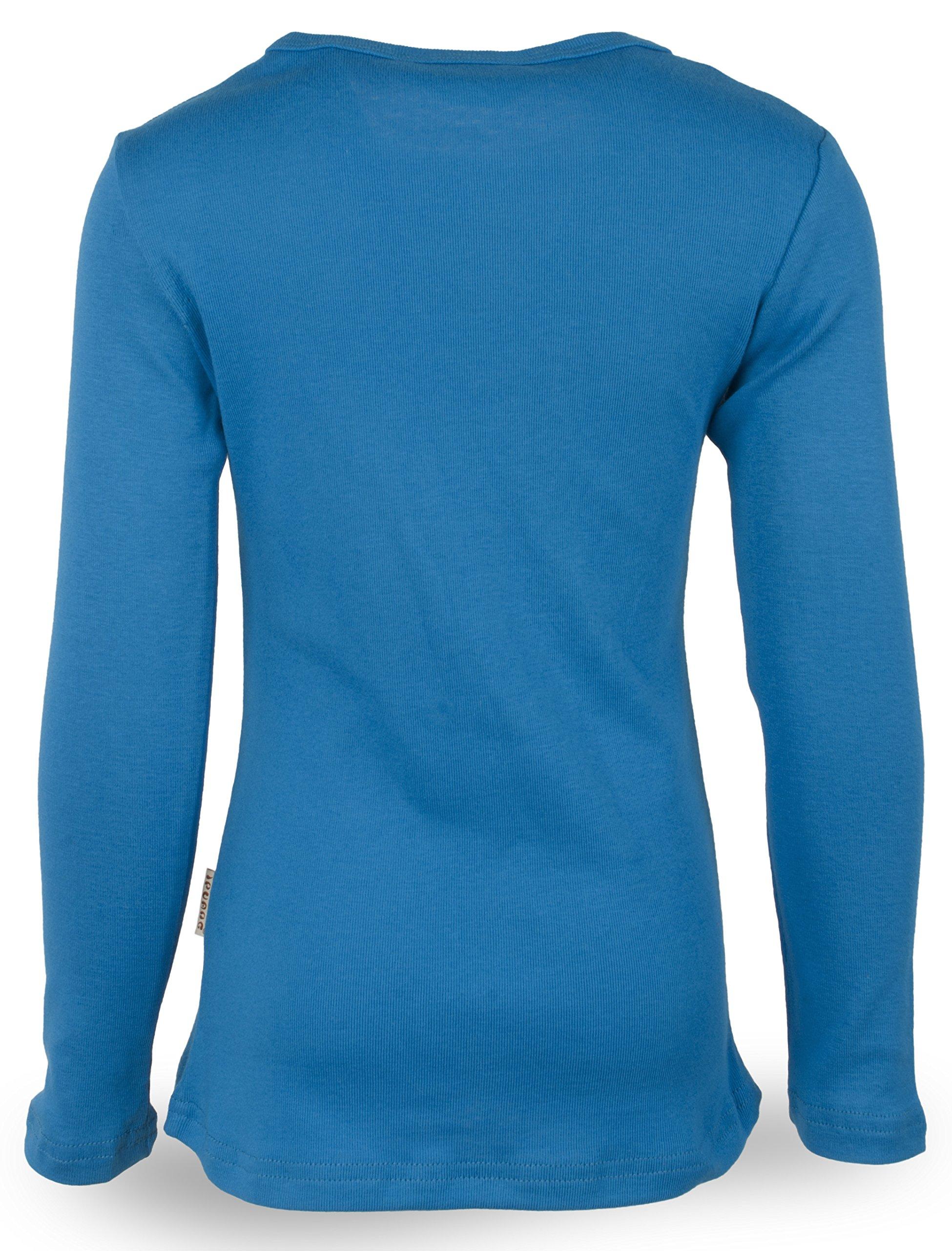 Ipuang Big Girls' Heart-Shaped Long Sleeve T-Shirt 8 Vivid Blue by Ipuang (Image #1)