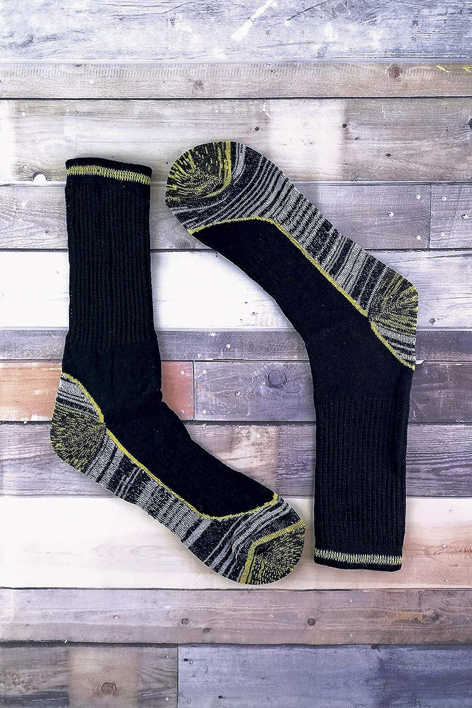 Sock Snob 3 pares hombre invierno lana calcetines para botas en 4 colores