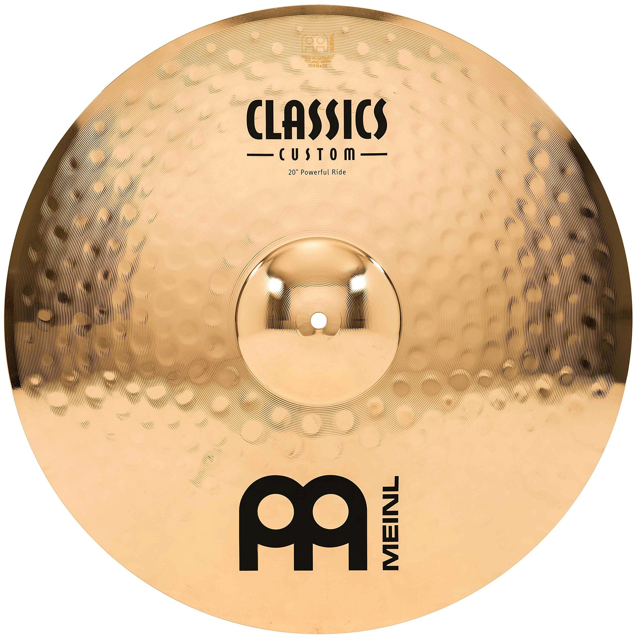 Meinl 20'' Powerful Ride Cymbal - Classics Custom Brilliant - Made in Germany, 2-YEAR WARRANTY (CC20PR-B) by Meinl Cymbals