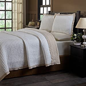Be-you-tiful Home Taupe Britten Queen Quilt Set, 3 Piece