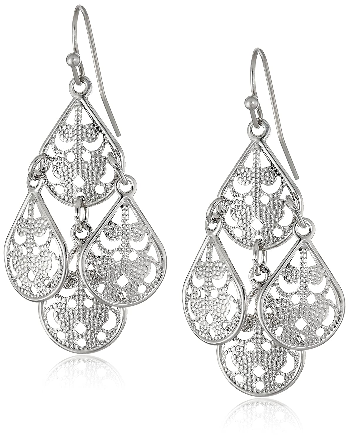 Amazon.com: 1928 Jewelry Brass Filigree Teardrop Chandelier ...