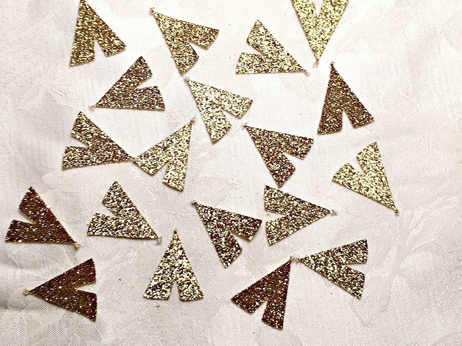 MANY COLORS AVAILABLE 100 Glitter Tribal Party Tee Pee Shaped Confetti Table Decor