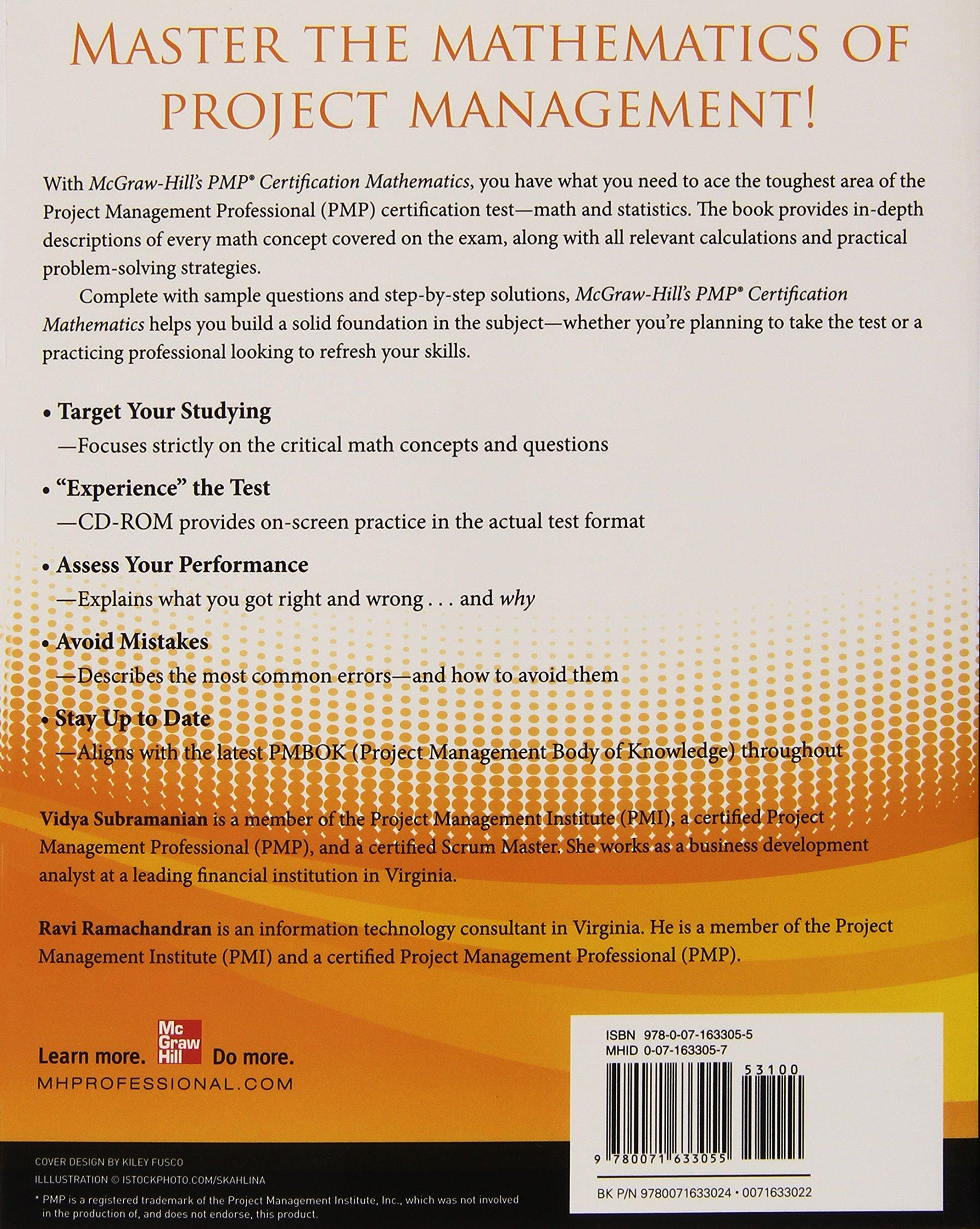 Mcgraw Hills Pmp Certification Mathematics Project Management