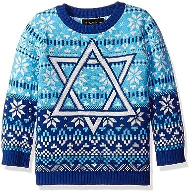 Amazon.com: Blizzard Bay Boys' Star of David Hanukah Sweater: Clothing