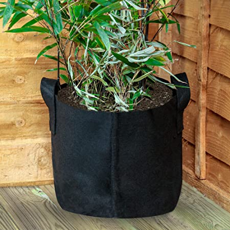Pots de croissance a/ér/és /à face douce en tissu non tiss/é respirant Sacs de jardini/ère pour l/égumes M/&W Plant Grow Bags fleurs et pommes de terre de jardin 10 Gallons