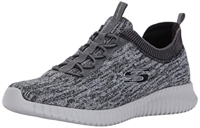 Skechers Sport Men's Elite Flex Hartnell Fashion Sneaker,Gray/Black,6.5 ...