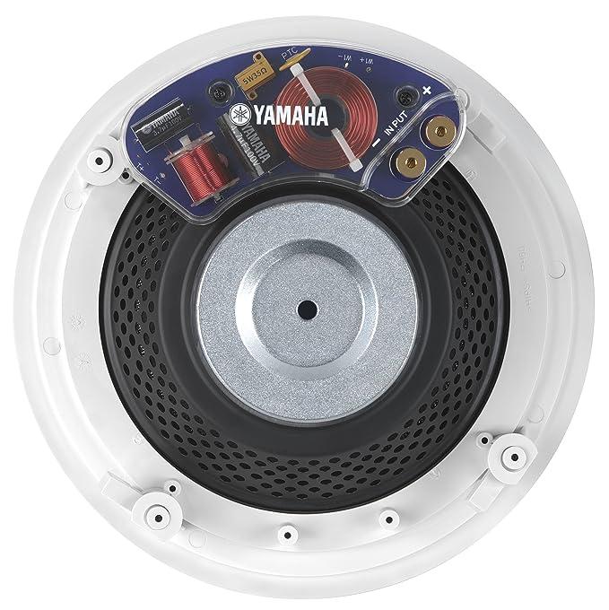 Yamaha Natural de sonido Custom fácil de instalar techo montaje empotrado 2 Vías 150 Watts juego de altavoces tweeter de cúpula de altavoces (conjunto de 2) ...