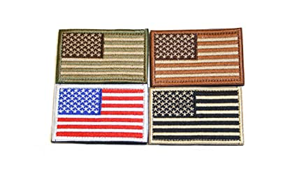 American Flag Velcro Tactical Patches Four Pack - Show Your American Pride  on Hats 0d86ab92702
