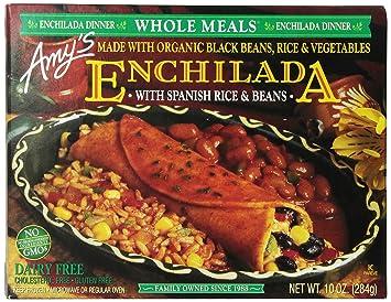 64369c8abc229c Amy's Whole Meals, Black Bean Enchilada, 10.0 Ounce (Frozen): Amazon ...