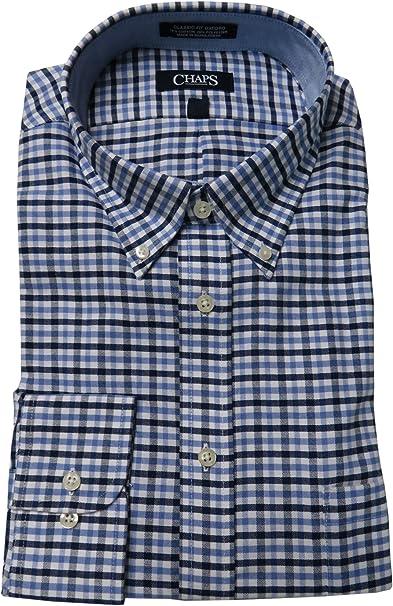 Chaps Mens Oxford Dress Shirt Blue