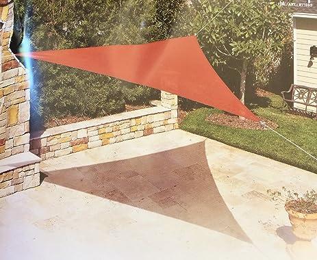 Coolaroo Ready-to-hang Triangle Shade Sail Canopy Red Terracotta 13 Feet & Amazon.com : Coolaroo Ready-to-hang Triangle Shade Sail Canopy ...