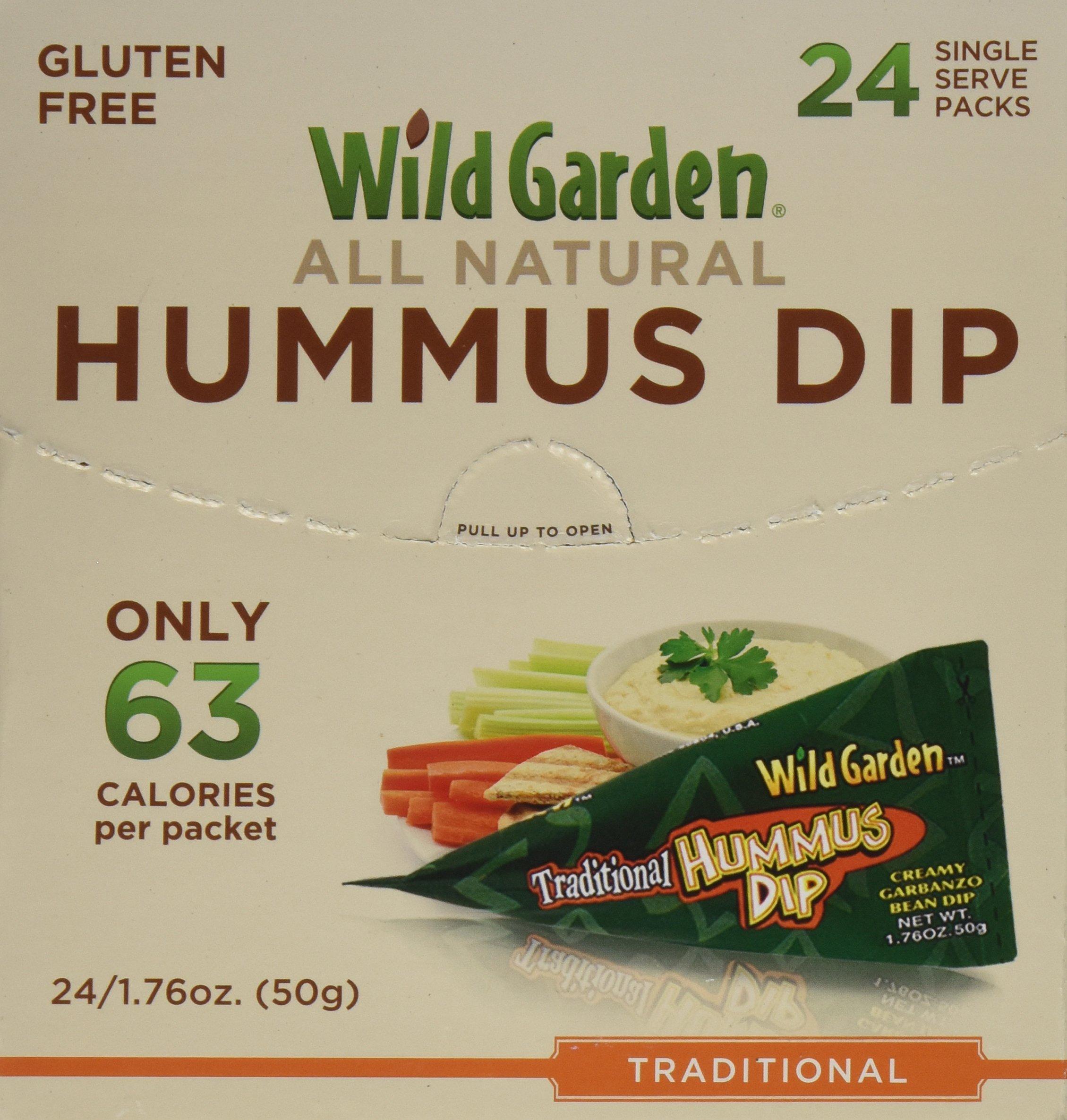 Wild Garden Hummus Dip. Traditional Hummus, 1.76 Ounces (Pack of 24)