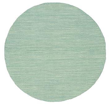 Teppich mint  Kelim loom - Mint grün Teppich Ø 100 Orientalischer, Rund Teppich ...