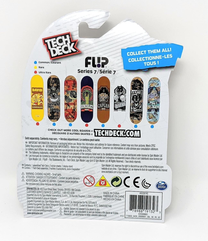 Tech Deck Series 7 Flip Louie Lopez Tiger Fingerboard Skateboard Louis Mini Toy Skate Board Toys Games