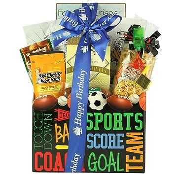 Amazon Armchair Athlete Birthday Sports Snacks Gift Basket