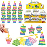 12 Pack Create Your Own Colored Sand Art Kits - Includes 12 Bottles, Funnels, Sticks, 48 Bags of Sand - Ideal for Kids…