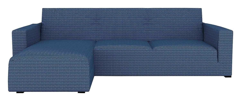 Algod/ón 240 x 195 x 2 cm Eiffel Textile Le Havre Chaise Longue Funda sof/á Brazo Corto Izquierda Azul