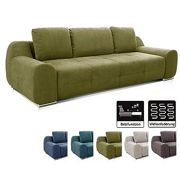Cavadore Big Sofa Benderes Schlafsofa Mit Bettfunktion Und